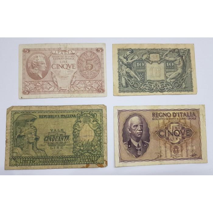 مجموعة عملات ورقية عالمية مكونة من 4 عملات - 1760 -