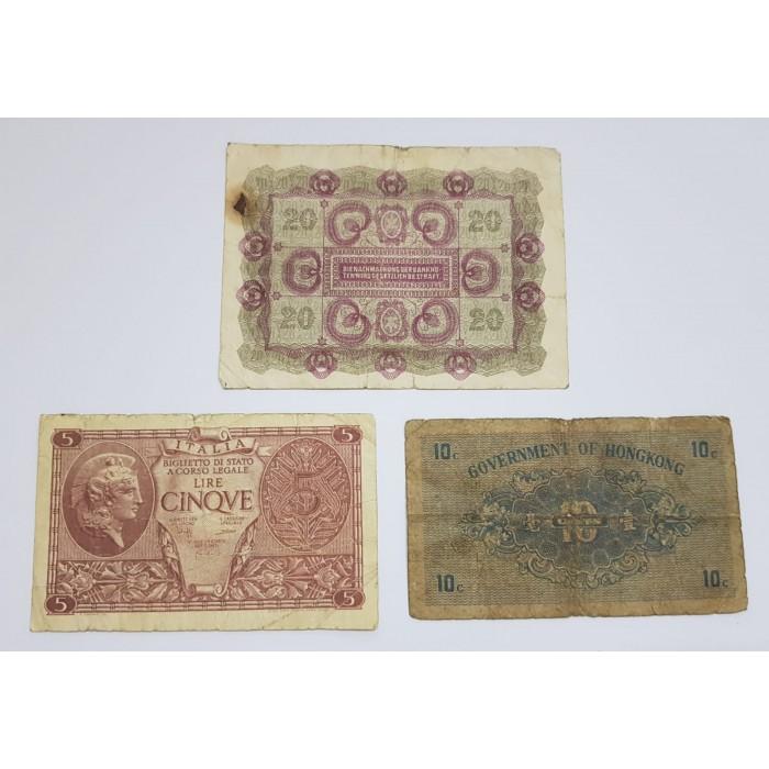 مجموعة عملات ورقية عالمية مكونة من 3 عملات - 1761 -