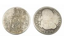 2 ريال اسباني لشارلز الرابع 1808 مـ